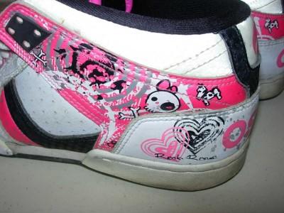 Osiris Shoes Girl Pink And Grey