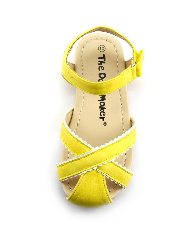 Girl S Closed Toe Summer Cute Sandal Toddler Shoes Velcro