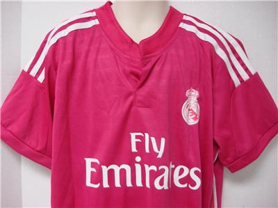 new style 4b073 01437 Details about James #10 Real Madrid Fly emirates Soccer Jersey & Shorts  unisex Kid's S Pink