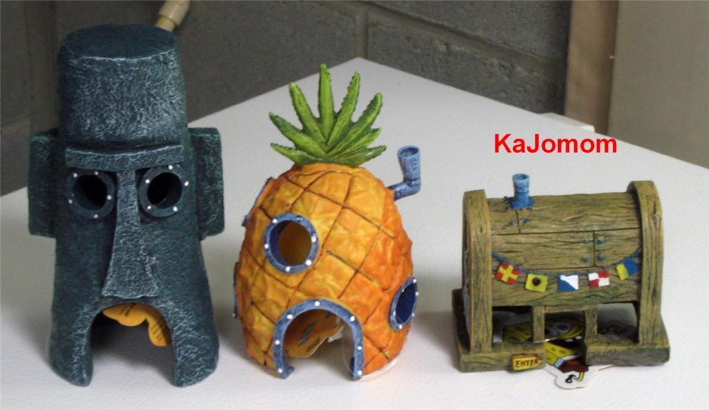 spongebob pineapple squidward krusty home aquarium. Black Bedroom Furniture Sets. Home Design Ideas