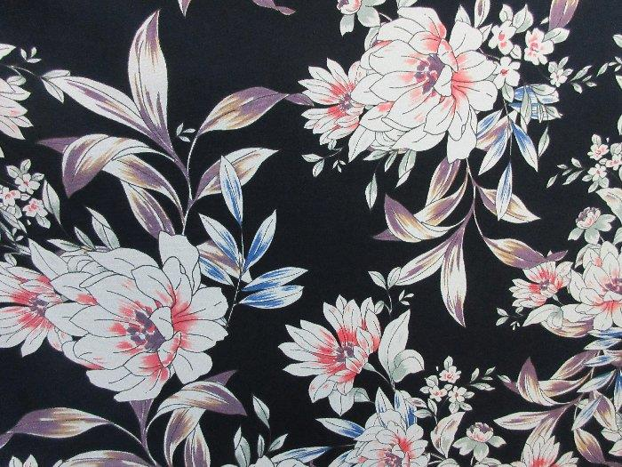 2 yards stretch ity spandex lycra fabric beautiful floral print