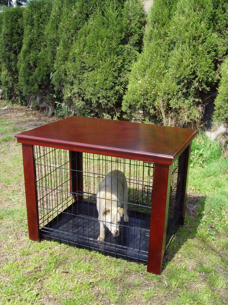 Wood Dog Crate Table Fit Folding 36 Quot Pet Cage Furniture