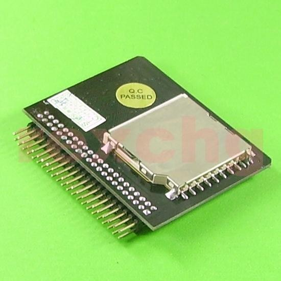 sd sdhc card to 44pin 2 5 ide hdd ssd pata adapter ebay. Black Bedroom Furniture Sets. Home Design Ideas