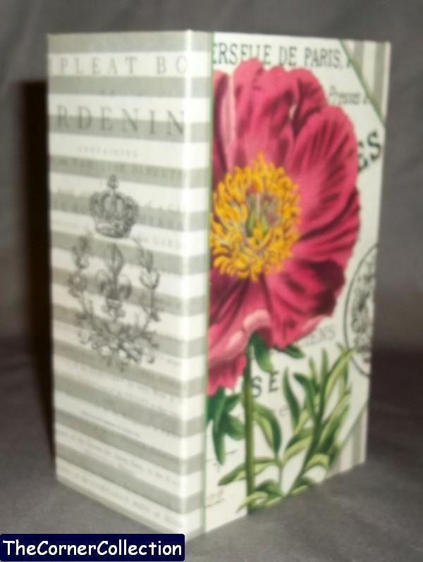 DECORATIVE FAUX BOOK BOX - STORAGE KEEPSAKE DECOR - CHOOSE DESIGN - M