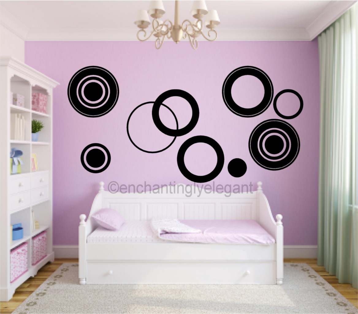 Large Circles Vinyl Decal Wall Stickers Teen Girl Boy Room ...