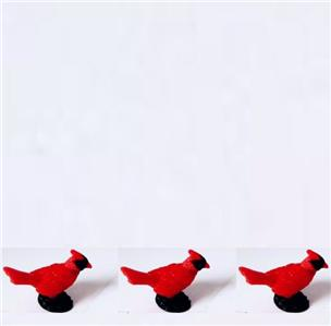 Doll House Shoppe Toy Bird Cardinal Set//3 11892 Game Pcs Micro-mini Miniature