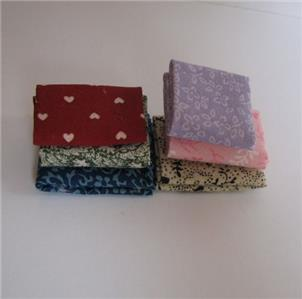 Dollhouse 4 Labeled Bolts of Fabric Miniature Scale Serendipity HW391 #6