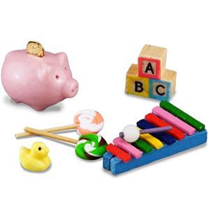 Baby Blocks dollhouse miniature IM65199 1//12 scale wood