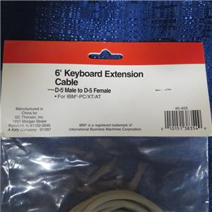 Keyboard Extension Cable PS//2 MD-6 Male to MD-6 Female GCE 45-432 12 ft