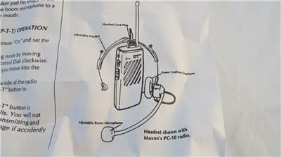 maxon microphone wiring diagram maxon pca 1 headset for pc 10   pc 50 2 way radio condenser mic 32  pc 10   pc 50 2 way radio condenser mic