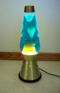 Vintage Lava Lamp Starlight With Star Light Base Groovy