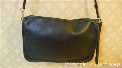Very Vintage Smaller Black Leather Cross Body Or Shoulder Satchel Bag Purse Boho