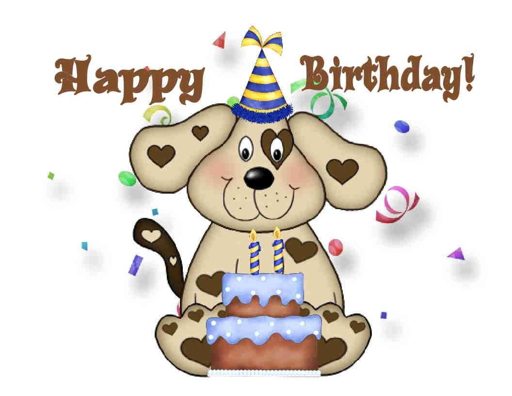 Custom Made T Shirt Happy Birthday Puppy Dog Cake Party Choice Girl Boy