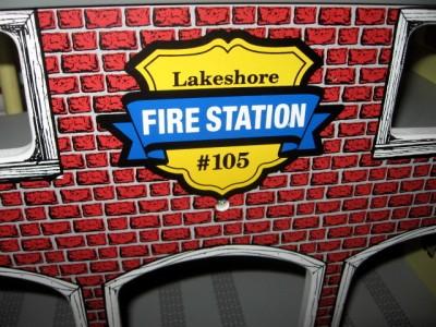 Vtg Lakeshore Learning Lrg Wooden Fire House Station Wood