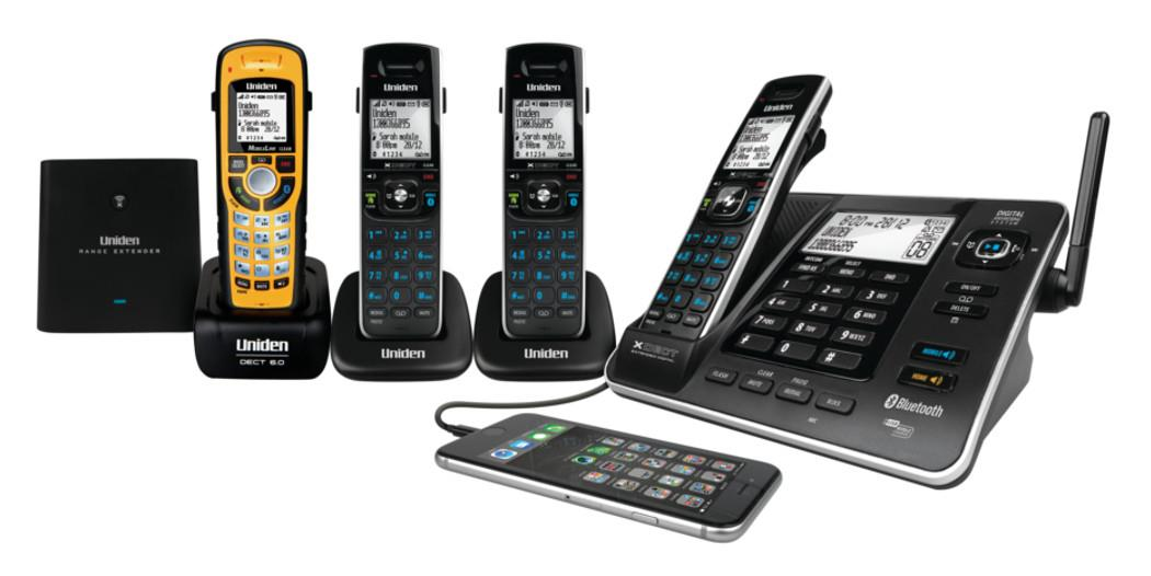 uniden xdect 8355 3wpr long range cordless phone 4 handset 1 rh pocketronics com au Uniden Bearcat Scanner Manual Uniden 7 Inch Tablet Manual