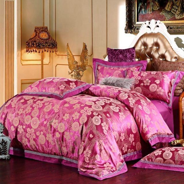 "Silk Brocade fabric pink and green 44"" Bro642[3]"