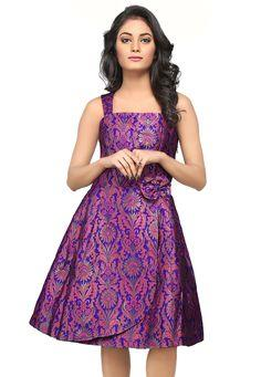 Image result for brocade purple color gown