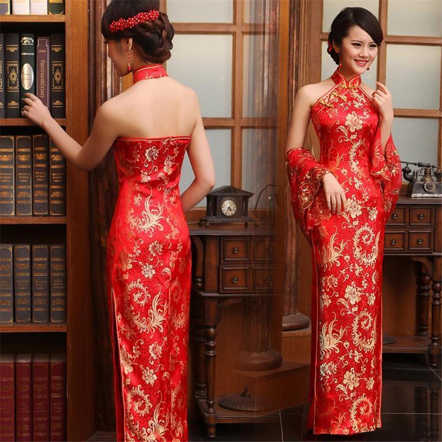 Heavy Silk Brocade Fabric red x metallic gold color Bro565[1]