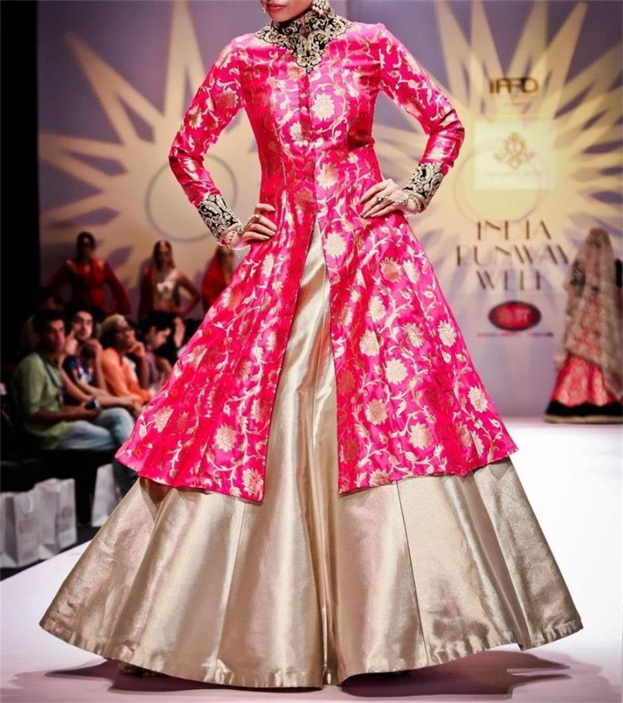 Image result for pink x metallic gold gown