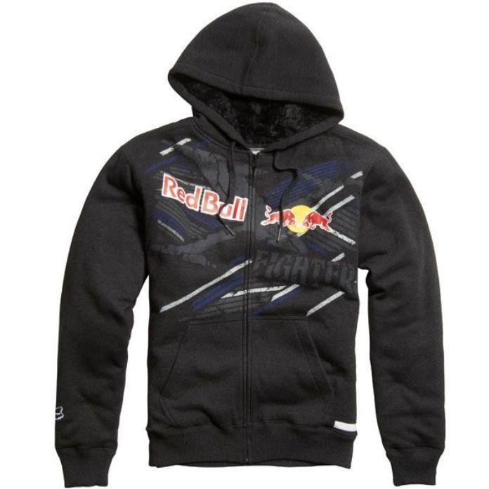 nwt men fox racing red bull x fighter sasquatch fur hoodie jacket black l xl 2xl ebay. Black Bedroom Furniture Sets. Home Design Ideas