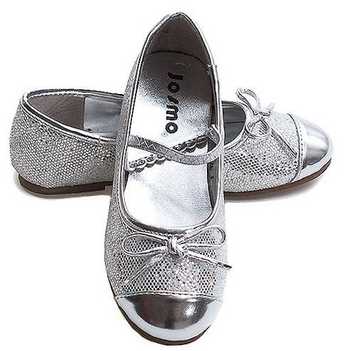 New Toddler Girls Silver Sparkle Holiday Dress Shoes   eBay