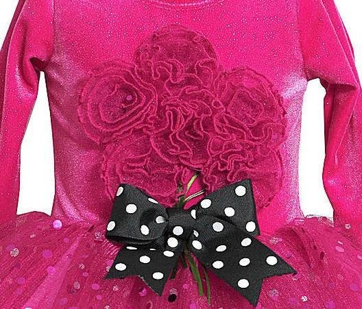 Bonnie Jean Pink Sparkle Bouquet Tutu Leggings Set Baby