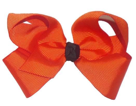 Torrid Orange Black Knot Grosgrain Ribbon Hair Bow 3