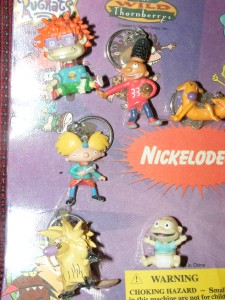 Rugrats Spongebob Arnold Thonberry Angry Beavers Plastic Keychains