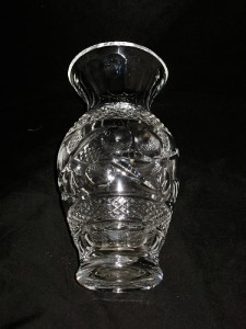 Waterford Crystal Giftware Collection Flower Vase 9 Quot Swirl Pattern Ebay