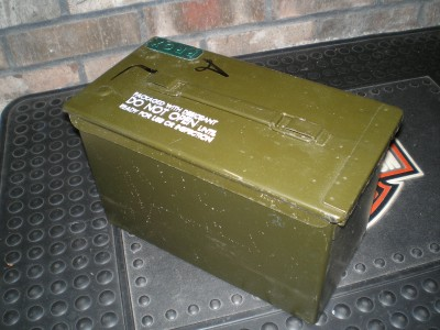 ammo fuse can army military 50 cal metal storage. Black Bedroom Furniture Sets. Home Design Ideas