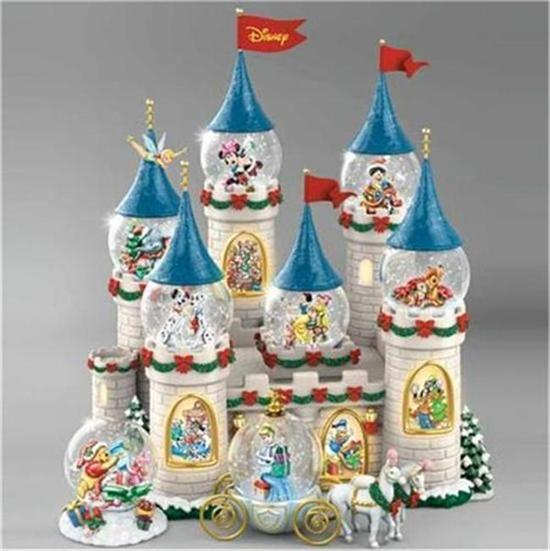 Light Tower Globes: Disney Christmas At The Castle Snowglobe Collection MUSIC