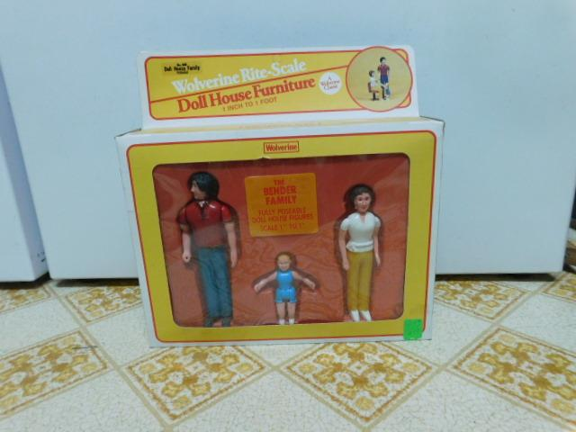Doll-House-People-Figures-The-Bender-Family-by-Wolverine-Rite-scale-Toys-NOS-Box