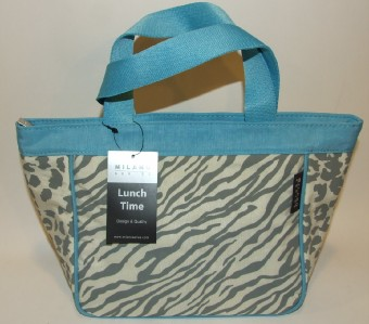 Animal Print Lunch Insulated Lunch Bag Tote Purse Grey