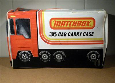 1978 Lesney Matchbox 36 Car Carrying Case
