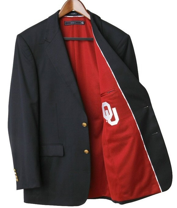 Oklahoma Sooners Team Blazer Licensed Logo Sportcoat Short
