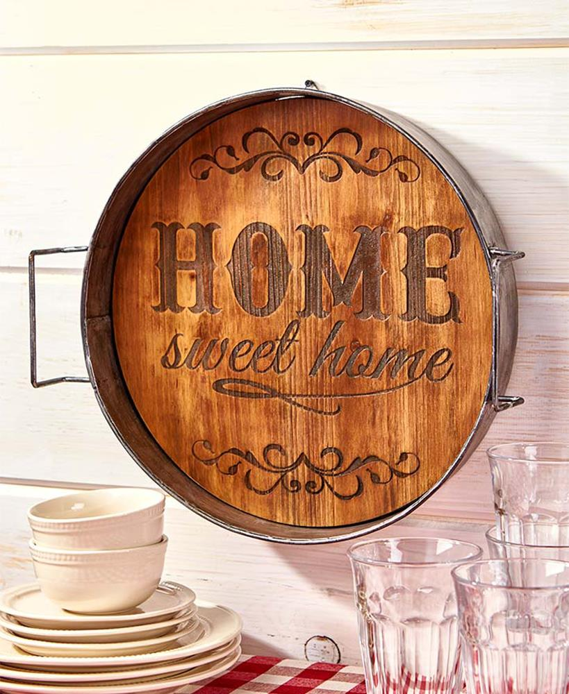 This Mirror Could Look Ugly And Old Fashioned But In This: Country Farmhouse RUSTIC BROWN Metal Old Fashioned Wash