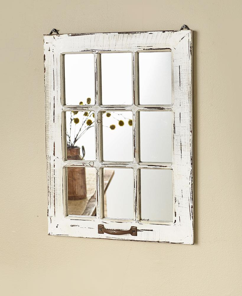 White Antiqued Distressed Wooden Country Farmhouse