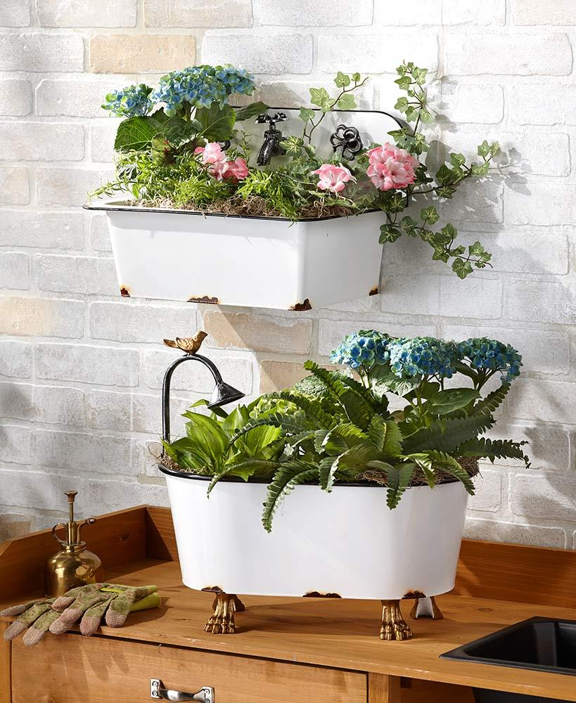 Hanging Bamboo Planter Vintage Thai Wicker Basket Takraw Flower Pot Small Oval