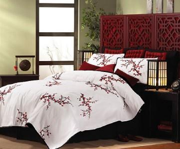 Asian Oriental Cherry Blossom Comforter King Ebay
