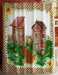 Outhouse Bathroom in The Forrest Cotton Novelty Fabric ...   Outhouse Material