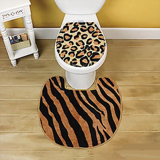 3 pc Animal Print Animal Print Bathroom Accessory Set ...