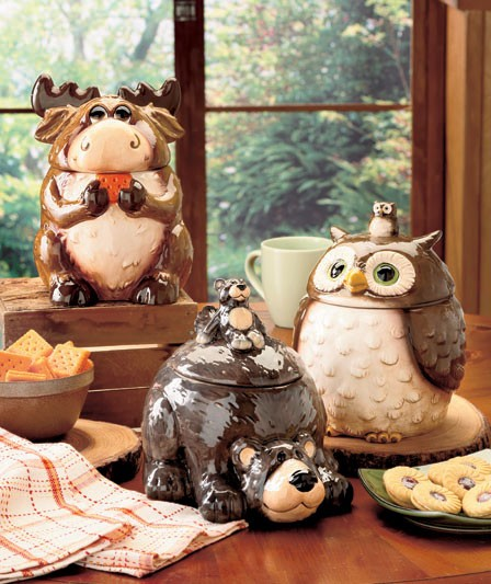 owl kitchen canisters forest friend kitchen storage canister cookie jar moose 14495