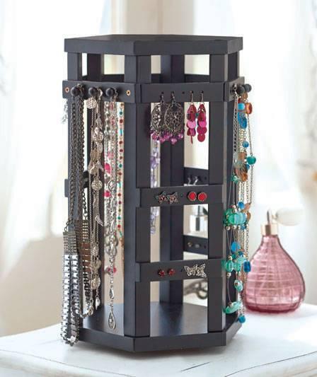 Revolving Rotating Jewelry Stand Holder Rack Storage