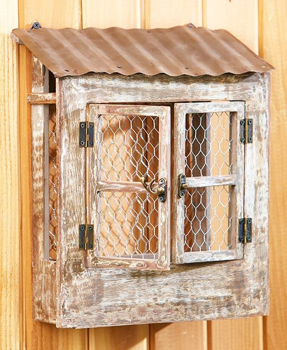 Kitchen Garden Box With Wire Top: Outdoor Country Farmhouse Chicken Wire Rustic DOOR Wall