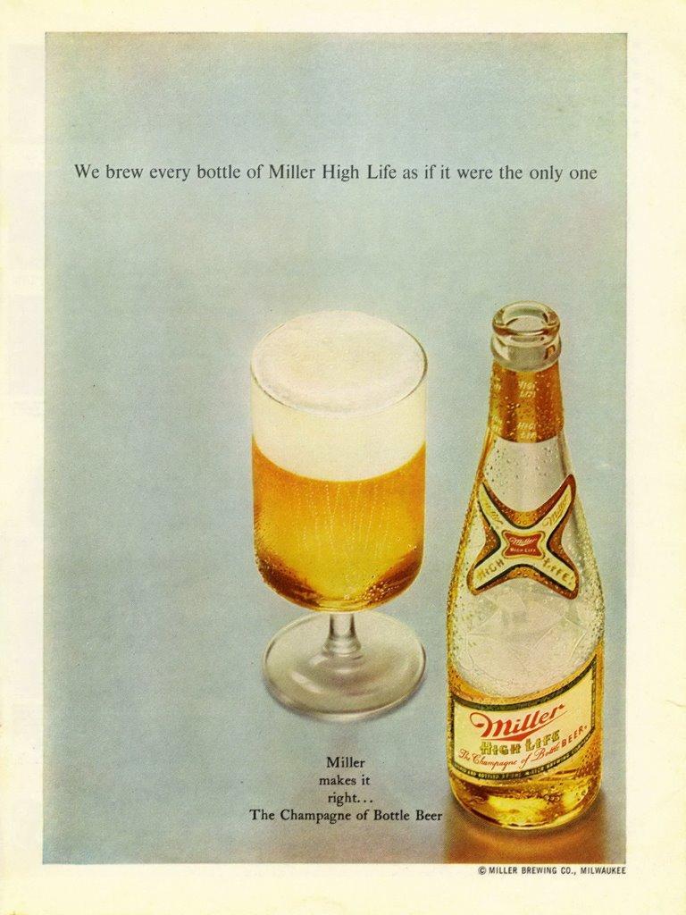 1969 MILLER Beer ad ~ The Champagne of Bottle Beer.   eBay