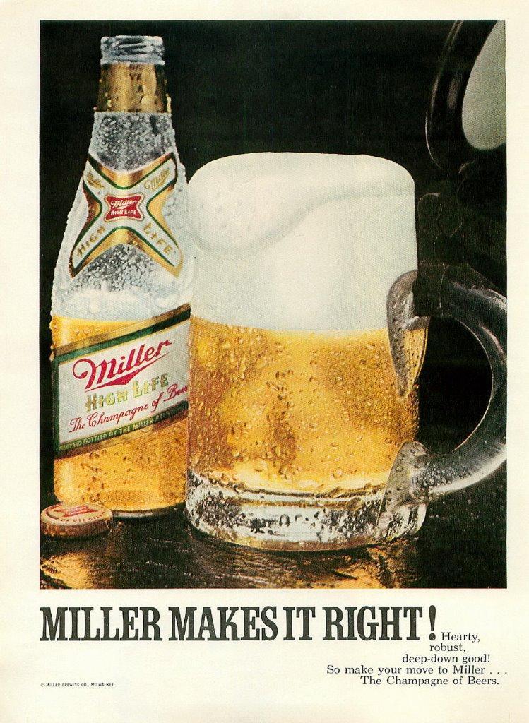 1970 Original MILLER Beer ad ~ Miller Makes It Right!   eBay