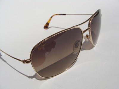 Maui Jim Polarized Titanium Sunglasses MJ 247 Gold New Authentic
