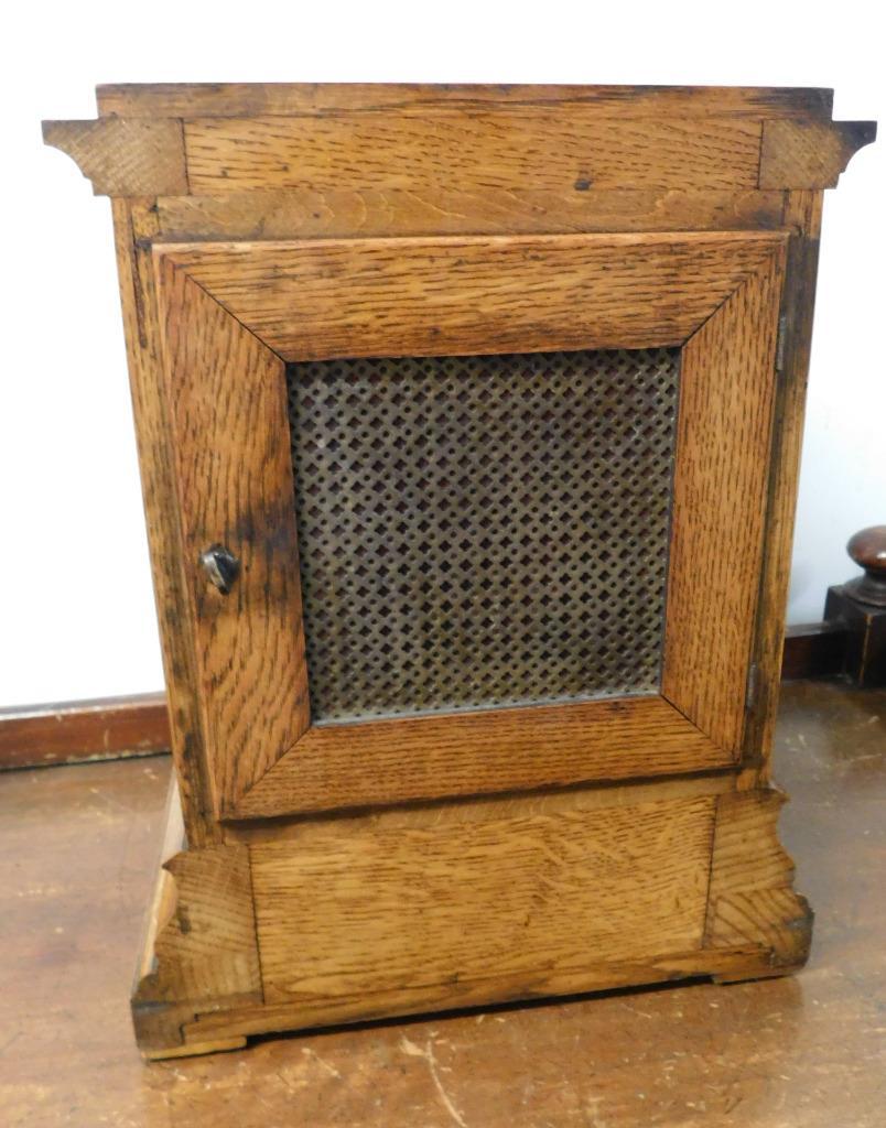 winterhalder & hoffmeir oak cased 4 glass libary clock 9