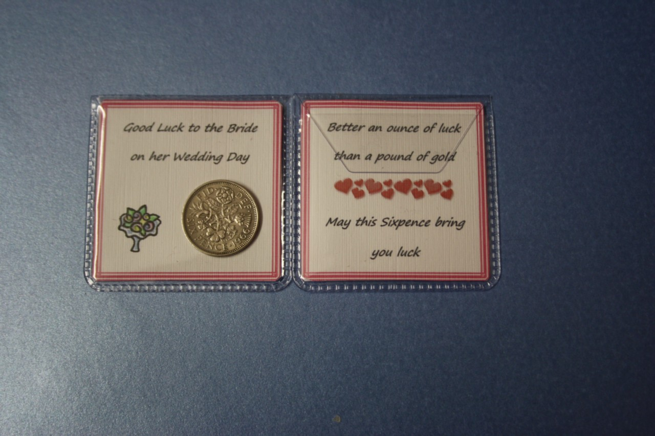 Lucky Wedding Gifts: Unique LUCKY SIXPENCE Wedding THANK YOU Gift For FEMALE