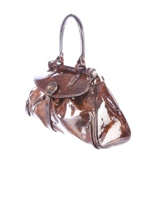 59beab3e3738 ... shop fendi mottled brown and sienna patent leather magic bag. d8757  546dc